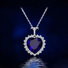 Titanic Blue Heart of Ocean Crystal Diamante Fashion Necklace Pendant For Women