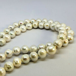 Edison pearl loose string, 10.5-12.5 mm, graduated, white, by Pearls Direct