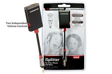 Monster iSplitter 3.5mm Headphone Splitter Adapter for iOS Samsung iPhone Tab