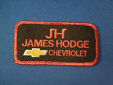 JH James Hodge Chevrolet Uniform Advertising Embroidered Iron On Patch
