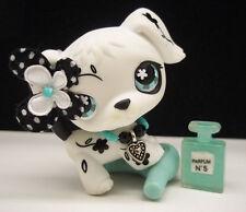 LITTLEST PET SHOP #469 BLACK WHITE FLOWER DALMATION DOG BOW BEAUTY ACCESSORIES