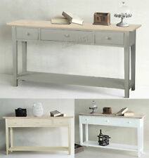 FoxHunter Console Table 3 Drawers Wood Hallway Side Storage Hall Kitchen CTW02