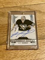 2015-16 Matt Murray Upper Deck Premier Rookie Hard Signed Autograph RC Auto /399
