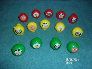 UNO MOO REPLACEMENT ANIMAL PART LOT OF 14 (5) RED & (5) YELLOW & (4) GREEN