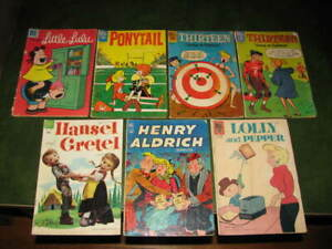 Lot of 6 Golden Age Silver Age Dell Comic Books VG