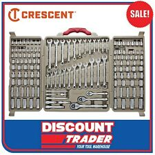 "CRESCENT 140Pc 1/4"" 3/8"" 1/2"" 6 & 12 Point Mechanics Tool Set - CTK140CMP"