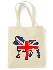 BRITISH BULLDOG SHOPPING  TOTE BAG - Bull Dog Union Jack