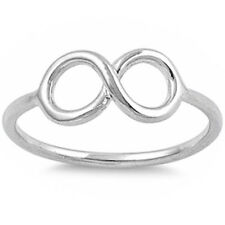 CUTE! Solid Silver & Gold plated Infinity Symbol, .925 Sterling Silver Ring 3-9
