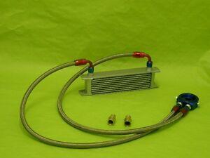 Burstflow Universal Nachrüstsatz Kit Ölkühler 9 Reihen AN8 passend für AUDI VW