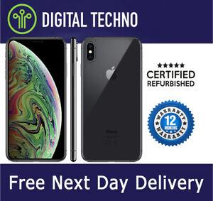 Unlocked Apple iPhone XS Max - Space Grey 64GB - Network & SIM Free - Warranty