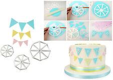 Kit 3 Tagliapasta bandierine festa per pasta di zucchero per torte