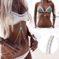 Women Bikini Waist Belly Harness Body Chain Necklace Fine jewelry Fashion