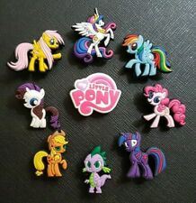 9 x My Little Pony Shoe charms PVC Rubber Holey Clogs shoes charm