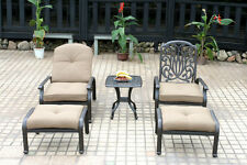 Elisabeth 5pc set patio chaise lounge chairs cast aluminum outdoor furniture