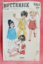 Vintage Butterick Pattern 5521 Size 3 Girls Dress Pants Short