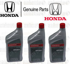 3x Genuine Honda ATF DW-1 Automatic Transmission Fluid   082009008