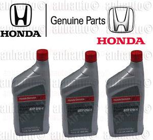 3x Genuine Honda ATF DW-1 Automatic Transmission Fluid   082009008