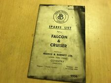 FRANCIS-BARNETT 1956 FALCON & CRUISER MODELS ILLUSTRATED SPARE LIST PARTS MANUAL