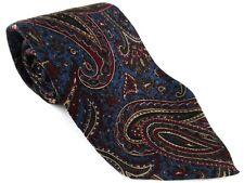 Jaeger Paisley Made In Italy Tie Necktie 100% Silk Blue Red