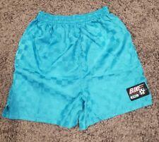 Vintage BIKE Soccer XXL Drawstring Gym Shorts Sz Large  14/16 Plaid blue