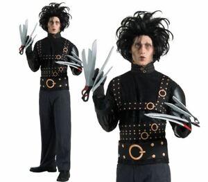 Adult EDWARD SCISSORHANDS Fancy Dress Costume Official Halloween Outfit Mens