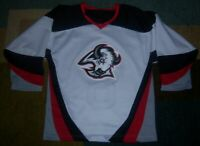 VINTAGE STITCHED Authentic/Licensed BUFFALO SABRES White GOAT HEAD JERSEY S l