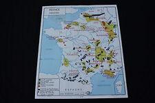Affiche Scolaire vintage France Commerce extérieur Industrie Rossignol 90*75cm