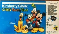 New listing  Kimberly-Clark Child's Face Masks- 47127-1 case w/10 Boxes of 75- Disney edition