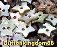 Lot 20 18L 11.4mm Star Natural Real Pearl Shell Button Crafts Etsy Project DIY