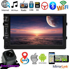 For GMC Yukon Android Car Stereo 2 Din Mirror Link Wifi GPS Radio Video + Camera