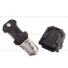 Black Stainless Steel Webbing Buckle Self Defence Survival Tools EDC Mini Knife