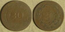 "Error: Two Cent Struck BY ""20"" Die Sinker EC4312"