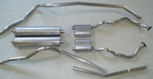 1963 FORD GALAXIE CONVERT. DUAL EXHAUST, 304 STAINLESS W/ 352-390, W/O RESONATOR