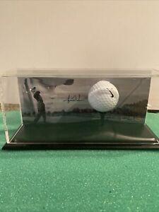 Tiger Woods Signed Used Range Golf Ball Display Upper Deck UDA 385/500
