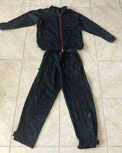 Michael Jordan Air Jordan Black With Red Sweat Suit Jacket & Pants