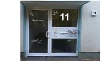 Hausnummer Aufkleber Beschriftung selbstklebend bis zu 24 cm Zahl Buchstabe