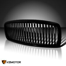 02-05 Dodge Ram Truck Vertical Style Front Hood Grill Grille Black Replacement