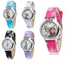Neue Armbanduhr für Kinder Mädchen Königin Elsa Prinzessin Anna Frozen Strass