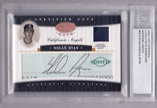 2004 Leaf Certified Cuts Nolan Ryan Jersey Green AUTO Relic /9  Very Nice!!