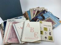 Lot Of 15+ Cross Stitch Books Large Binder Full Of Patterns And Magazines