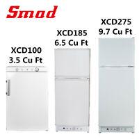 Smad Propane Gas Refrigerator Top Freezer Van RV Fridge Camper LPG Cooler AC DC