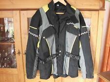 Polo FLM Greyhound Motorrad Jacke Textil Damen Gr. L schwarz/gelb/grau mit Gürte