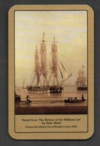 One Single Vintage Playing/Swap Card :   THE WILLIAM LEE TALL SHIP
