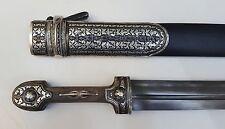 Caucasian Dagger Georgian Kindjal Kinjal Silver Knife Sword Qama