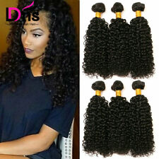 Virgin Indian Hair Long Kinky Curly Bundles 300g 100% Human Hair Extension Weave