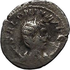 SALONINA wife of GALLIENUS 255ADAuthentic Ancient Silver Roman Coin JUNO i46417