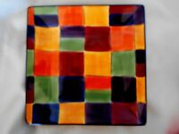 TABLETOPS UNLIMITED Gallery Caracas Hand Painted Square Plate / Platter