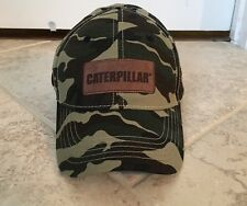 CAT Caterpillar Ripstop Camo Hat w/ Leather Patch