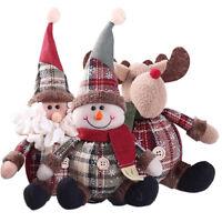 Stuffed Christmas Hanging Santa Claus Doll  Xmas Tree Decor Snowman Ornament
