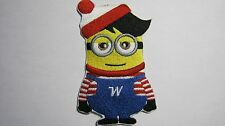 DESPICABLE ME INSPIRED WHERE'S WALDO ? MINION EMBROIDERED PATCH SEW OR IRON ON